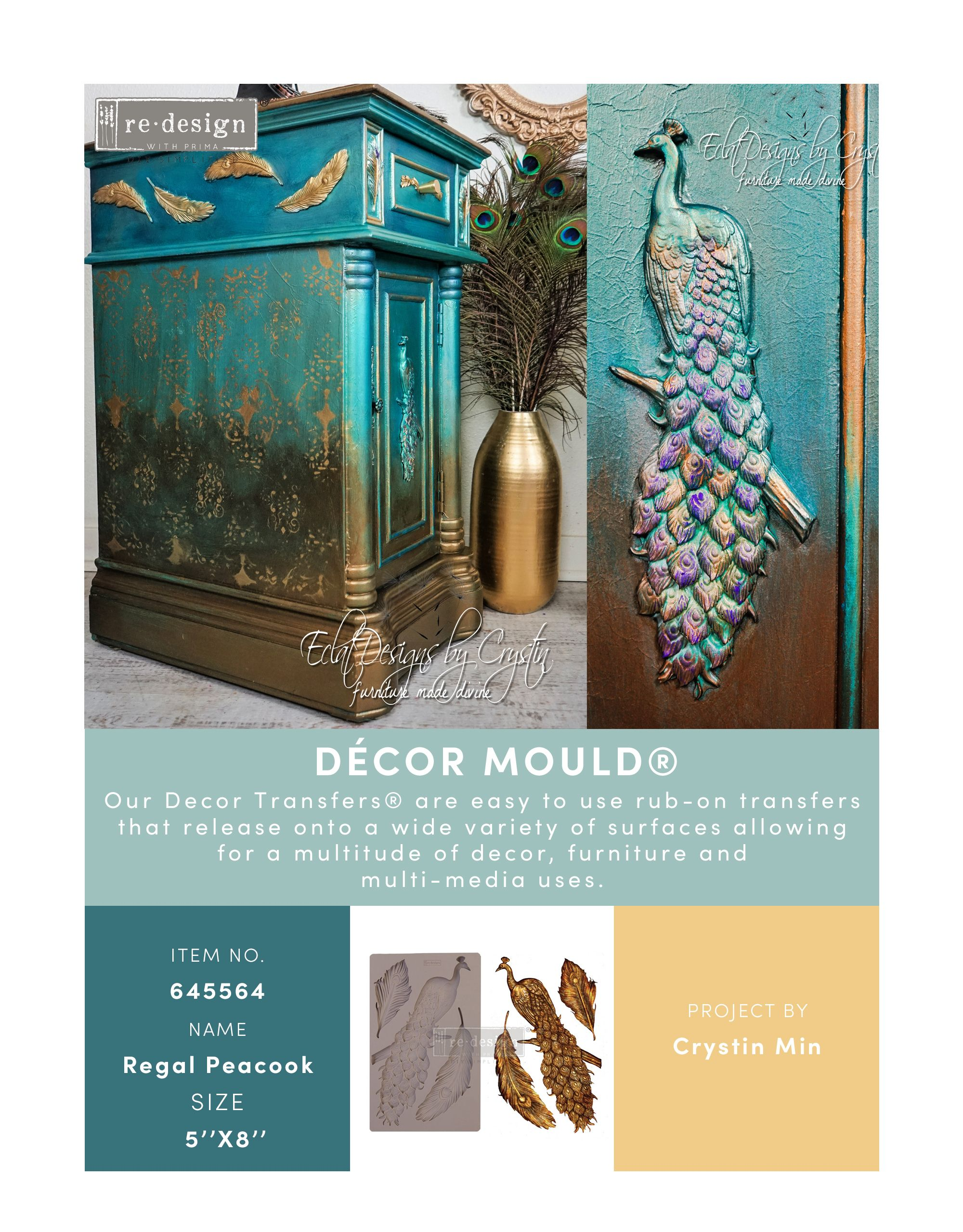 Regal Peacock Mould REDESIGN WITH PRIMA