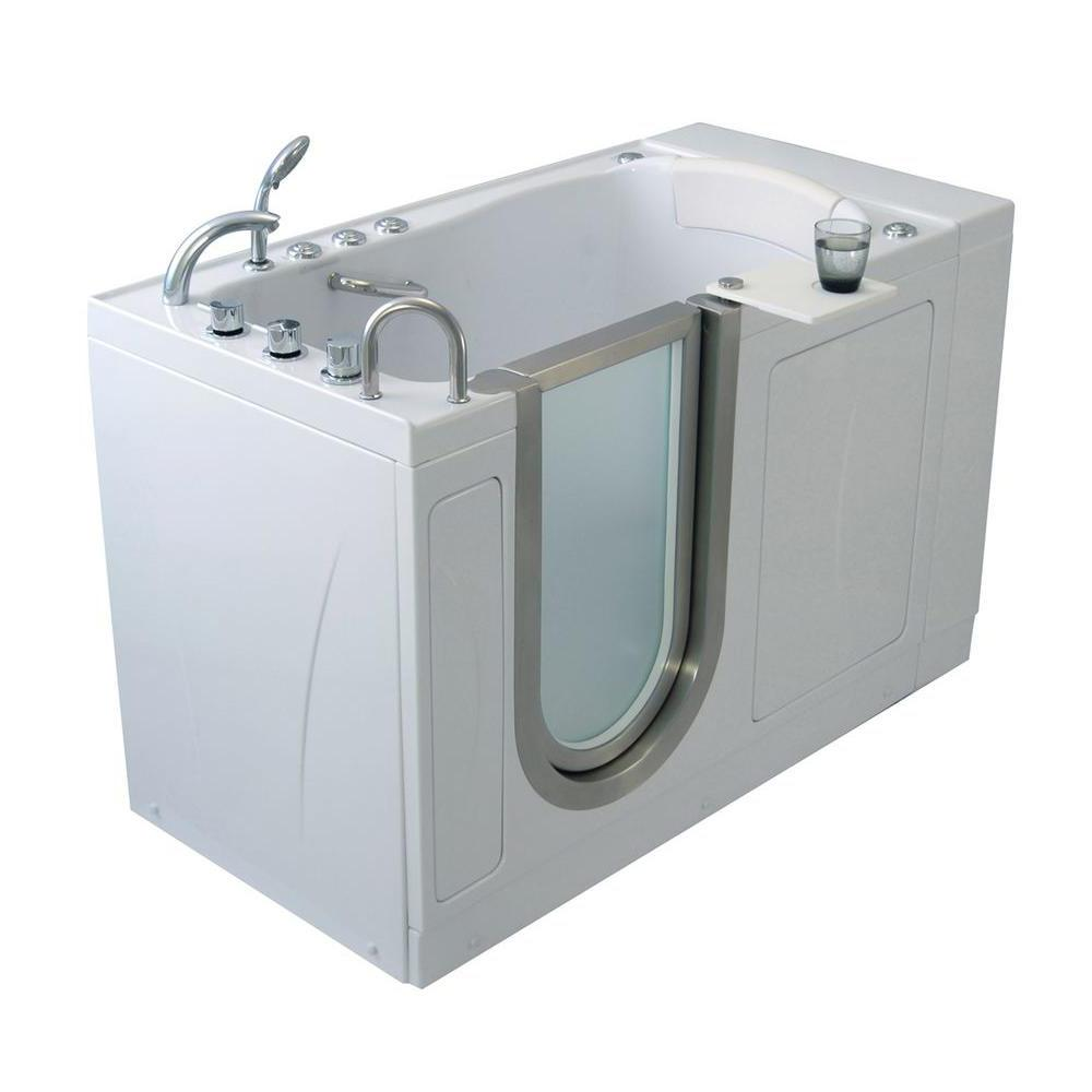 Ella Royal 52 In Acrylic Walk In Whirlpool And Air Bath Bathtub
