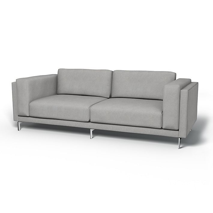 light grey sofa covers valencia leather review nockeby 3 seater regular fit using the fabric couches