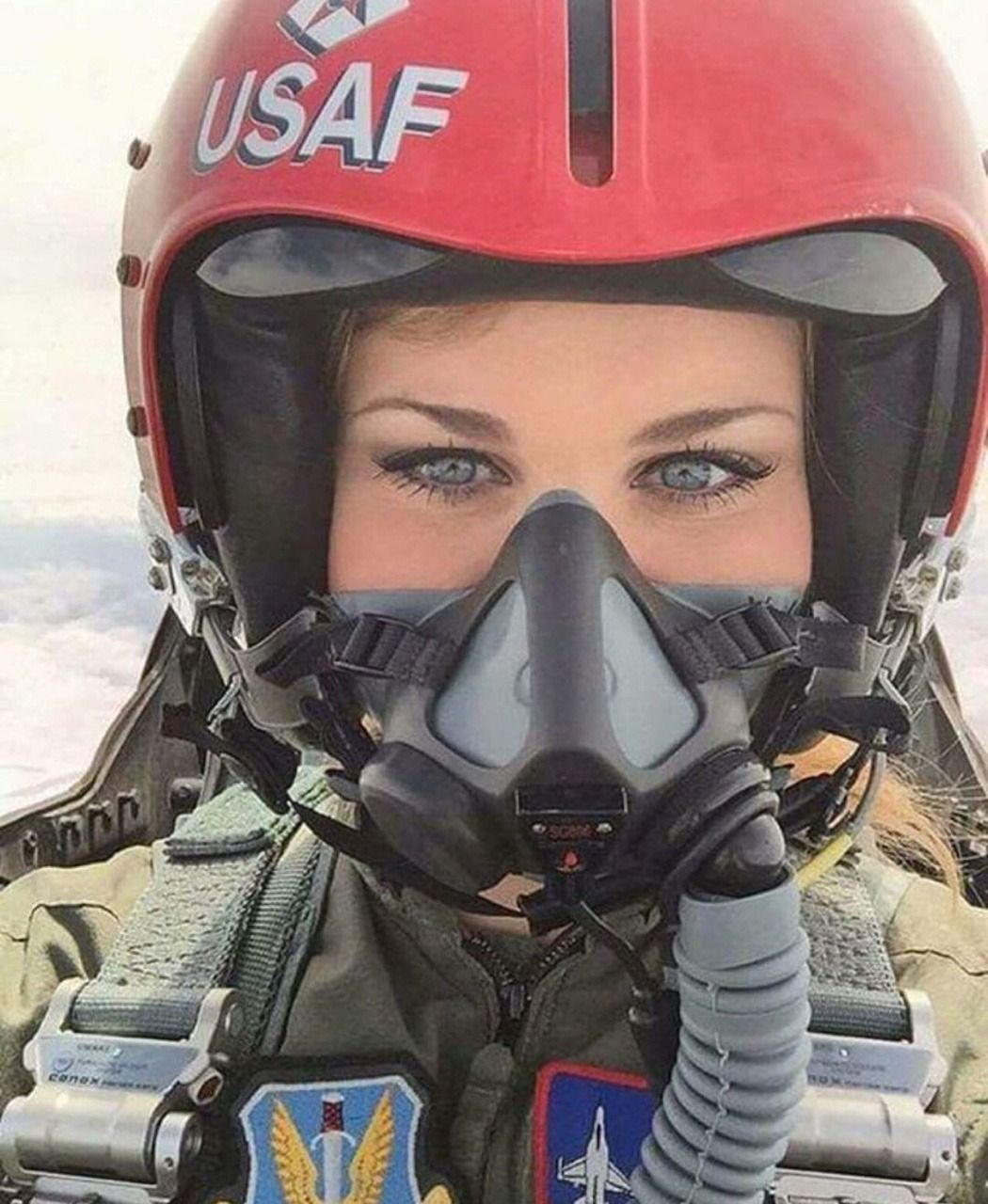 Eyes to the skies fighter pilot air force women female