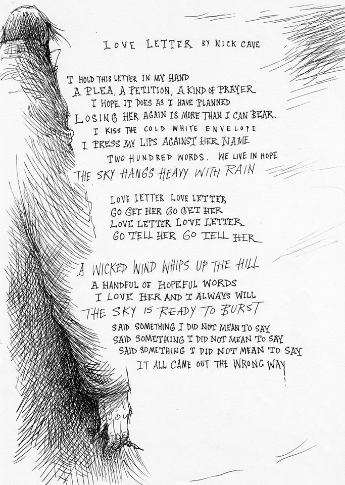 Chris Riddell Love Letter By Nick Cave   Visual Art