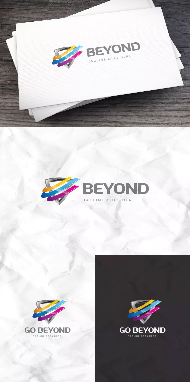 Go Beyond Logo Template AI, EPS Logo templates, Logos