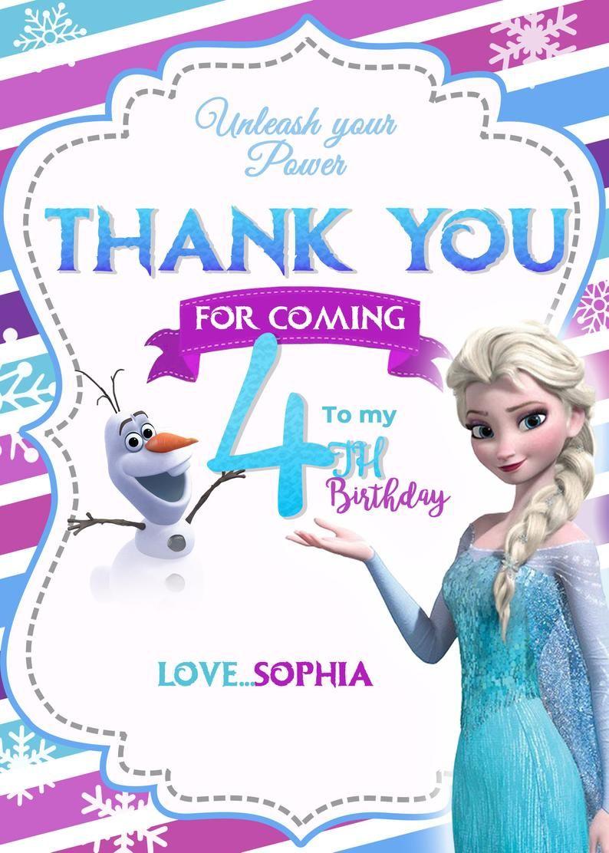 Frozen 2 Birthday Invitation, girl birthday invitation