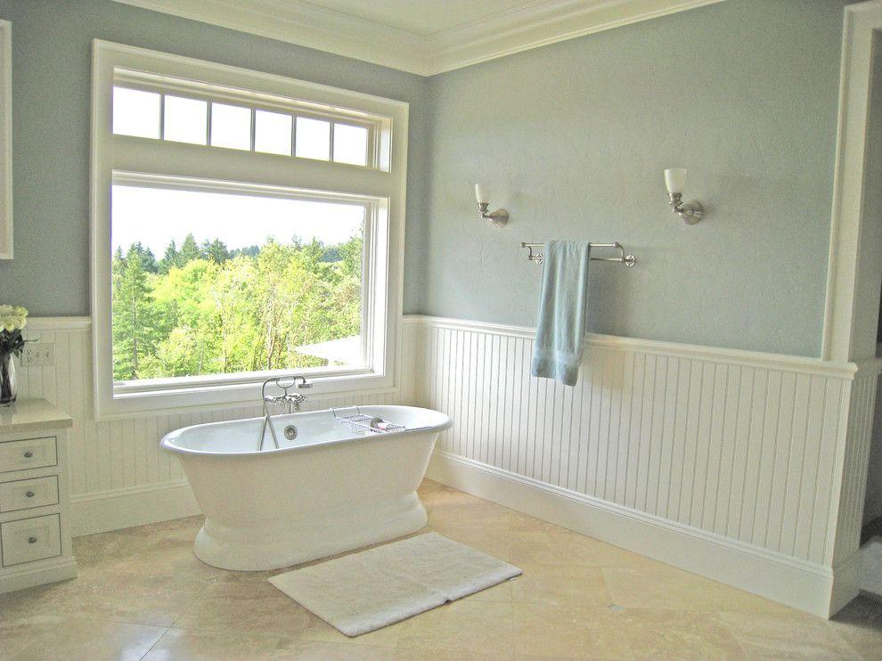 Bathroom Paint Colors Travertine Tile master bath - travertine & white-devine almond wall color. love this