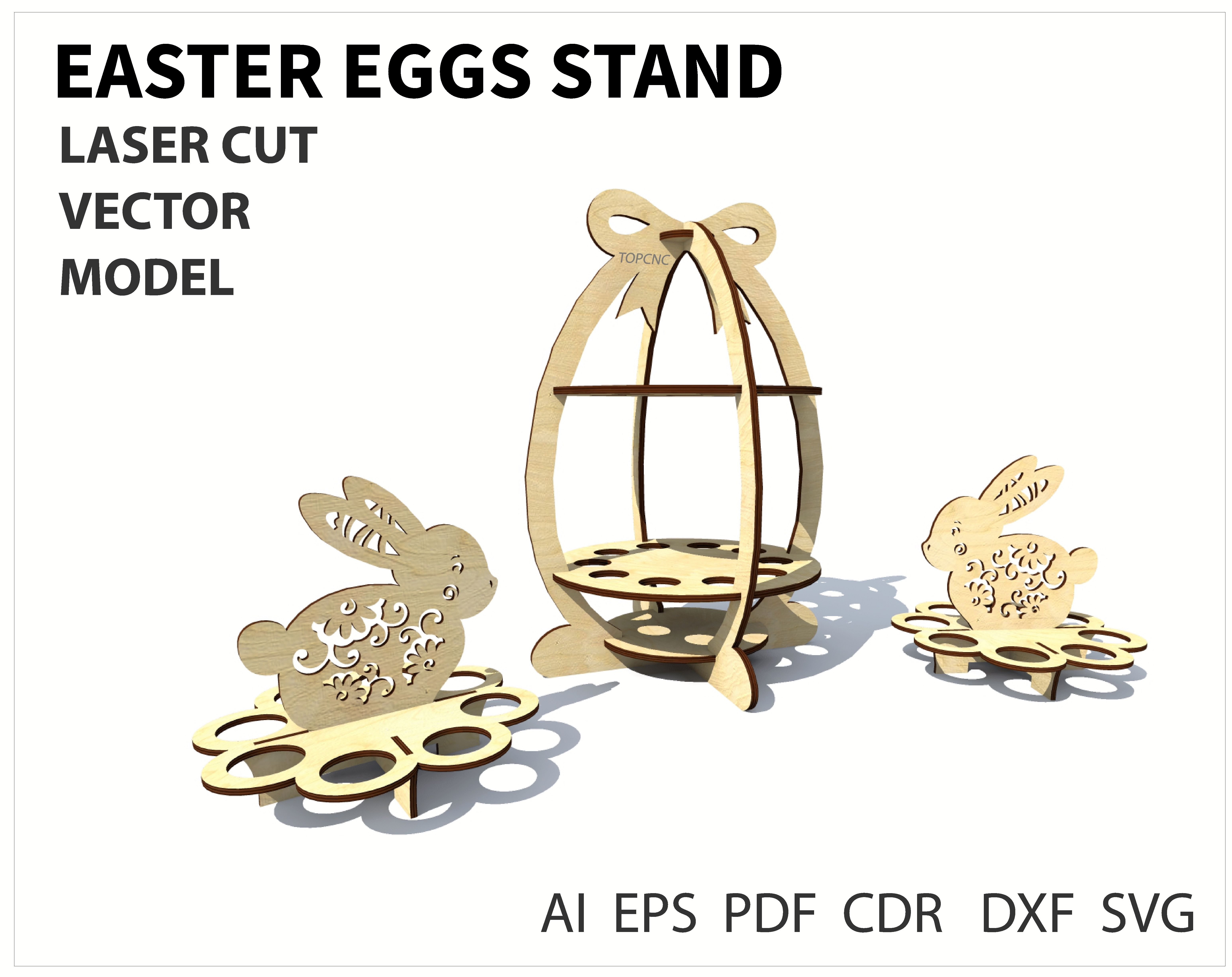 Vector Cutting Plan Rabbit Laser Cutting Digital Gift Box Desing Vector Cutting Plan CNC File Suitable  Suitable For Commercial Use