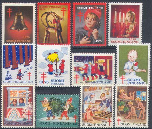 1970-1981 Joulumerkit