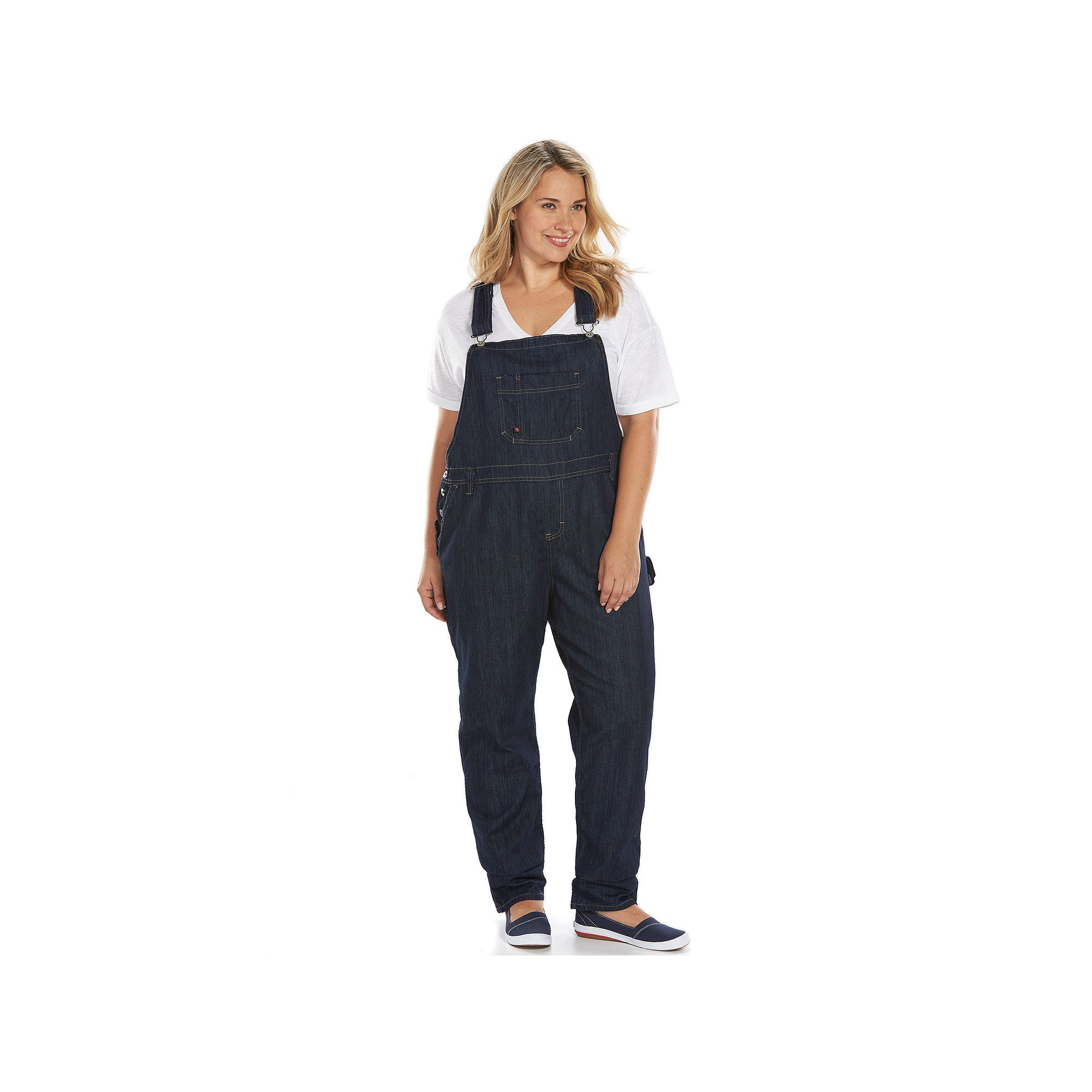 fashionable and attractive package 2019 hot sale purchase original Plus Size Dickies Relaxed Straight-Leg Denim Bib Overalls in ...