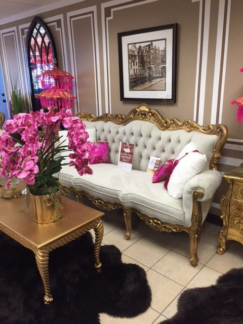 Barque Decor Living Room: Baroque Ivory Velvet Victorian Louis XV French