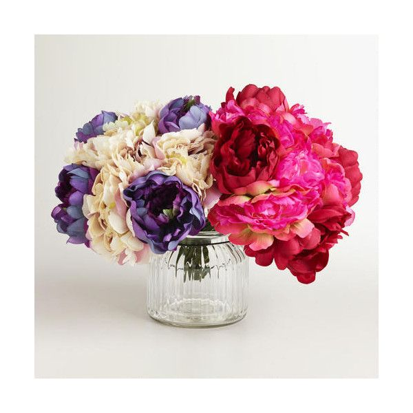 Cost Plus World Market Multicolored Peony Bunches ($16) ❤ liked on ...