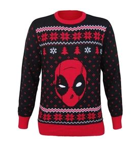 deadpool ugly sweater.