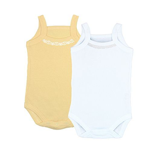 Kid U Not Baby 2pk White And Yellow Ribbed Cotton Camisole Bodysuits Onesies 03 Months Continue To The Product At Baby Girl Bodysuit Bodysuit Cotton Camisole