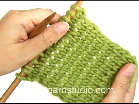 Drops Knitting Tutorial How To Knit In The Portuguese Style