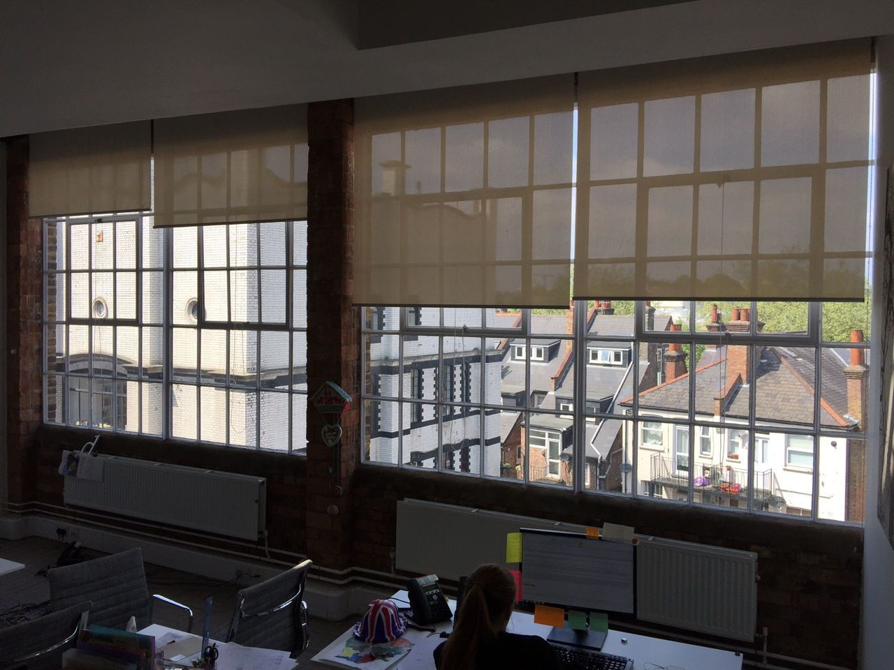 Blinds Warehouse Sunscreen Roller Blinds For Large Warehouse Office In