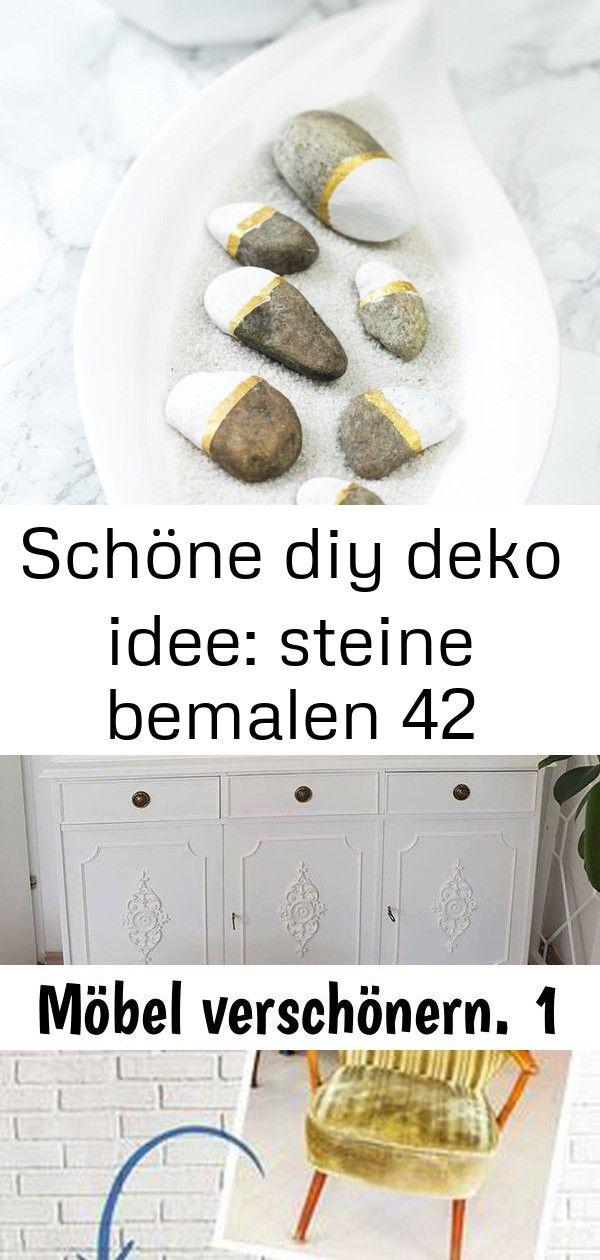 Schöne diy deko idee: steine bemalen 42 #steinebemalenanleitung