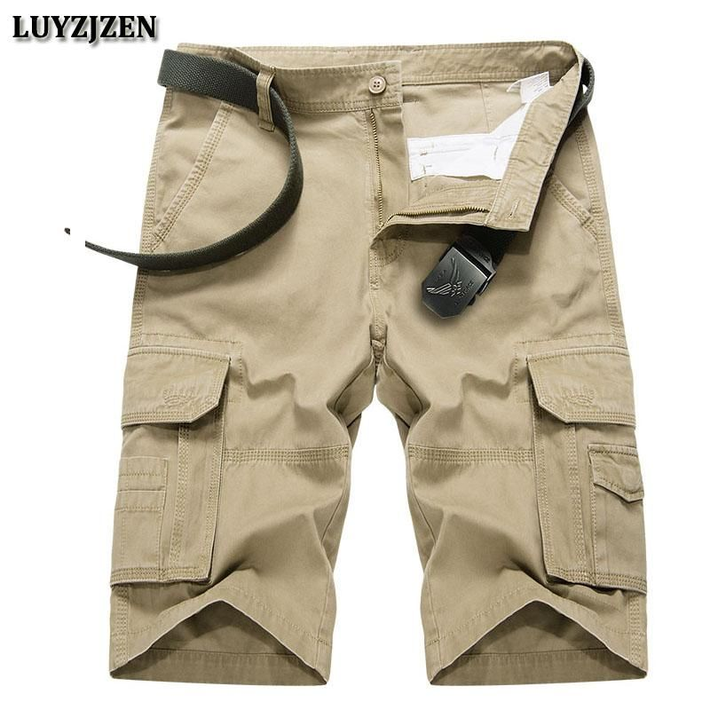 1e6d04a5a6a New Casual Shorts Men Cotton Men Cargo Shorts Multi-pocket Male Shorts High  Quality