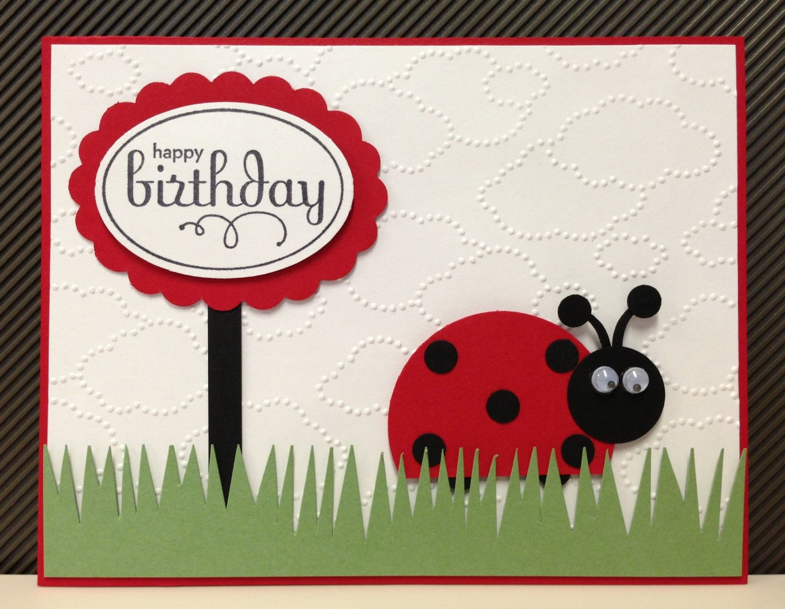 Ladybug punch art stampinu up birthday card kit cards punch