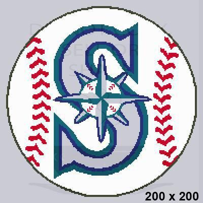 (4) Name: 'Crocheting : Baseball Seattle Mariners 200x200
