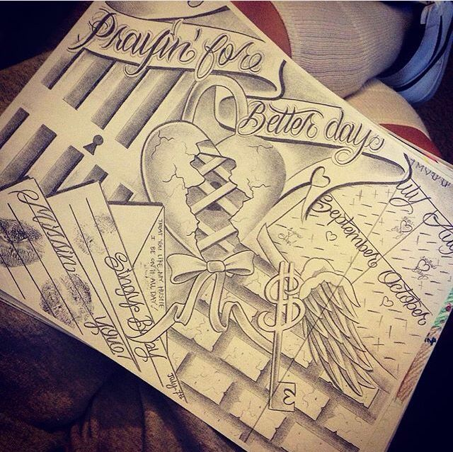 Locked Up Letter Love With Images Prison Drawings Tattoo Art