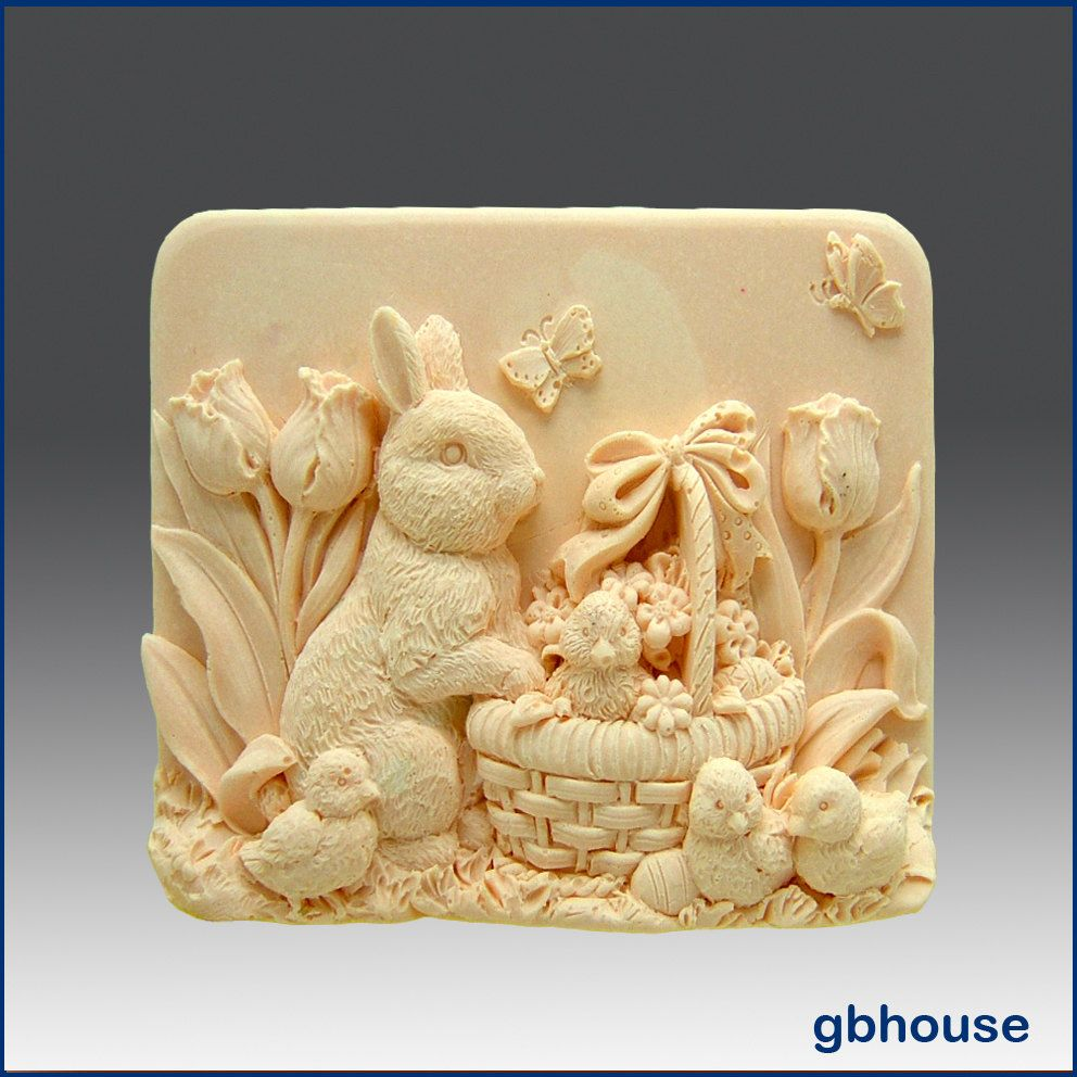 D silicone soap mold missy garden u bunny free shipping buy