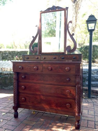 Merveilleux American Classical Empire Dresser   Mahogany With Brass Inlay In Antiques,  Furniture, Dressers U0026 Vanities, 1800 1899 | EBay