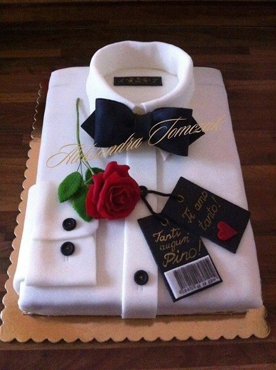 Terrific 15 Amazing Birthday Cake Ideas For Men Torta Camisa Ideas De Birthday Cards Printable Trancafe Filternl
