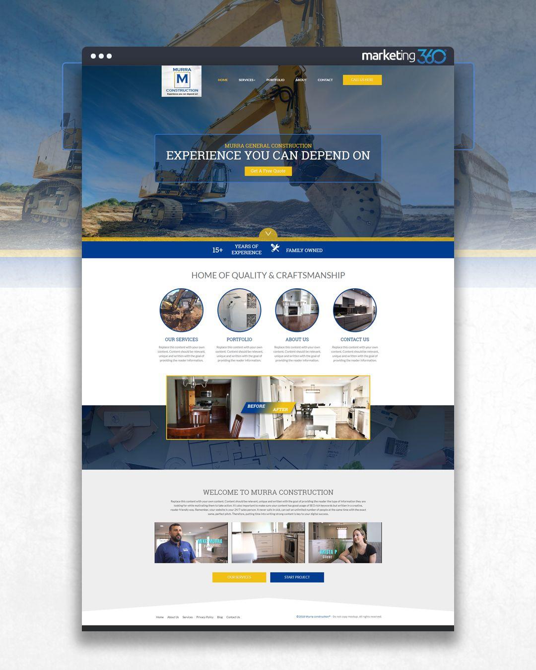 Design Of The Day Construction Website Design Concept By Our Talented Designer Bayley Warren Construction Website Online Web Design Corporate Website Design