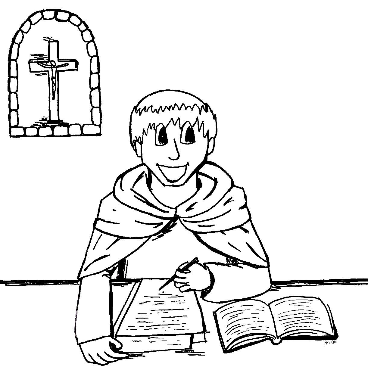 St Thomas Aquinas Coloring Pages by Mark | School miscellaneous ...