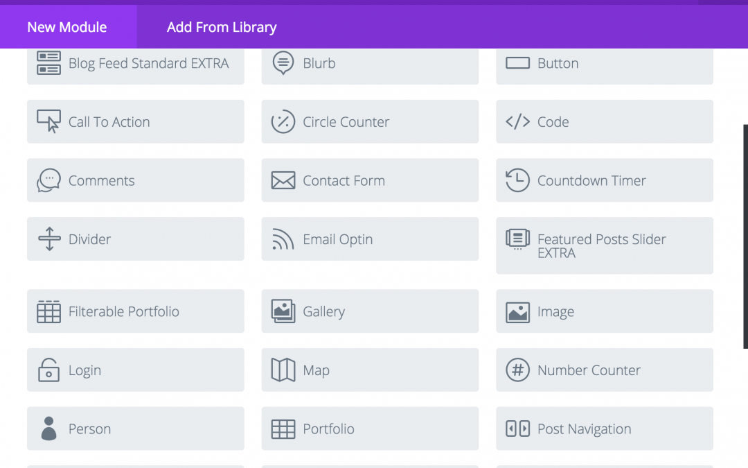 Add Extra S Category Builder Modules To Divi Standard Section Divi Web Design