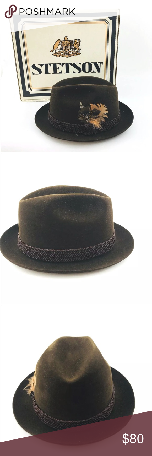 2b6bc63853e Stetson Key Club Fedora Hat The Imperial STETSON KEY CLUB FEDORA HAT Size 7  1 4 The Imperial