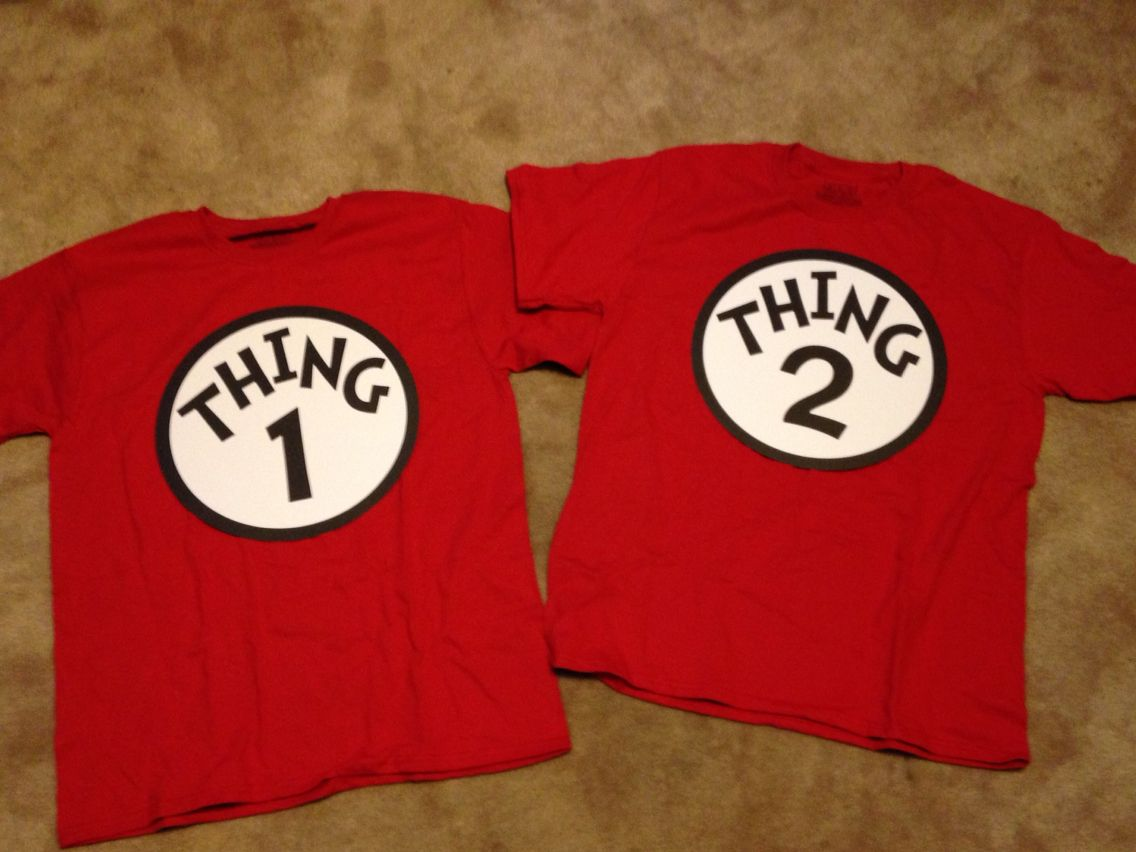 Dr Seuss Yw In Excellence Diy Thing 1 Thing 2 T Shirts Made Using