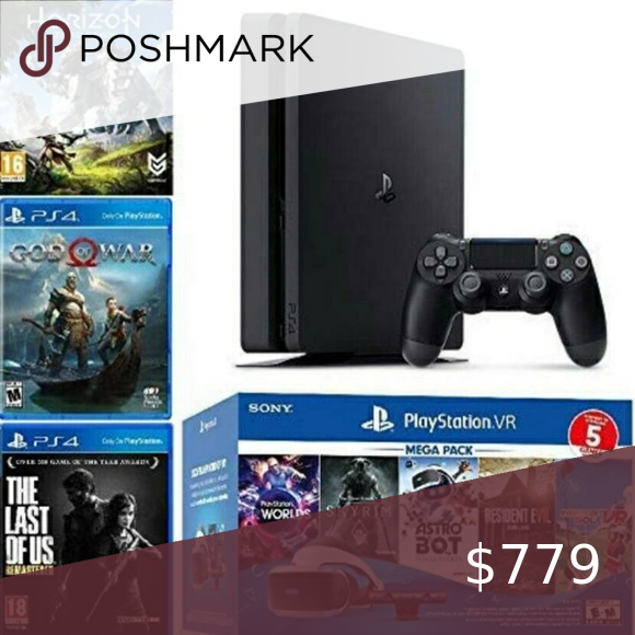 Playstation 4 With Vr Set And Games Included In 2020 Playstation 4 Playstation Games