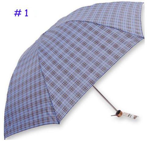 NEW Light Plaids Nylon Rainproof Windproof Umbrella Business MEN'S Parasol   eBay