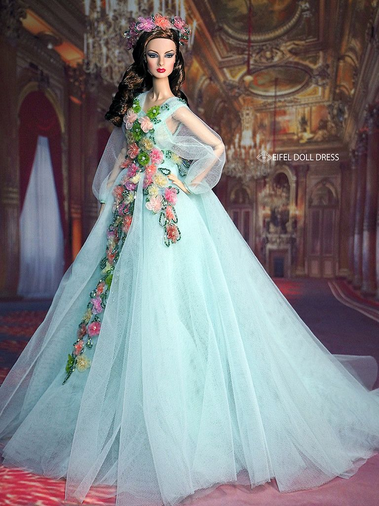 Evening Dress | Dolls and Doll Outfits | Pinterest | Barbie wedding ...