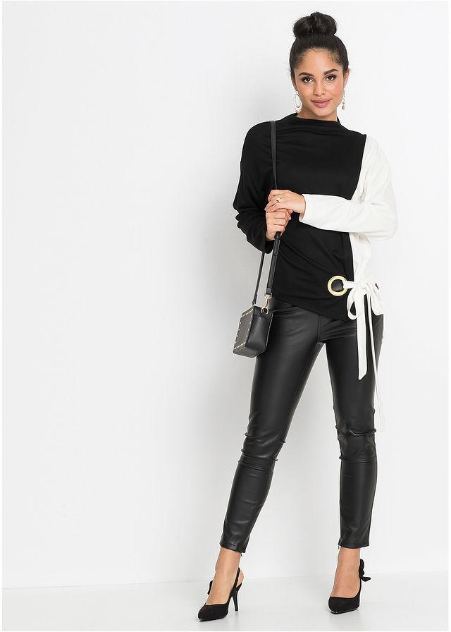 Bluza Dresowa Czarno Biel Welny Z 109 99 Zl Bonprix Leather Pants Fashion Pants