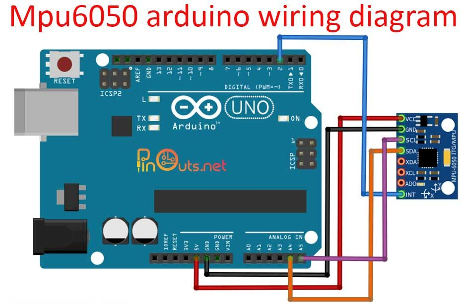 Mpu6050 Pinout And Sample Projects In 2020 Arduino Open Source Projects Diagram