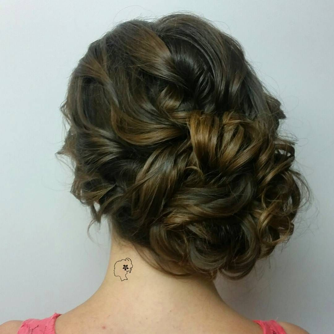 A lovely sideswept updo for a lovely bridesmaid clean classic