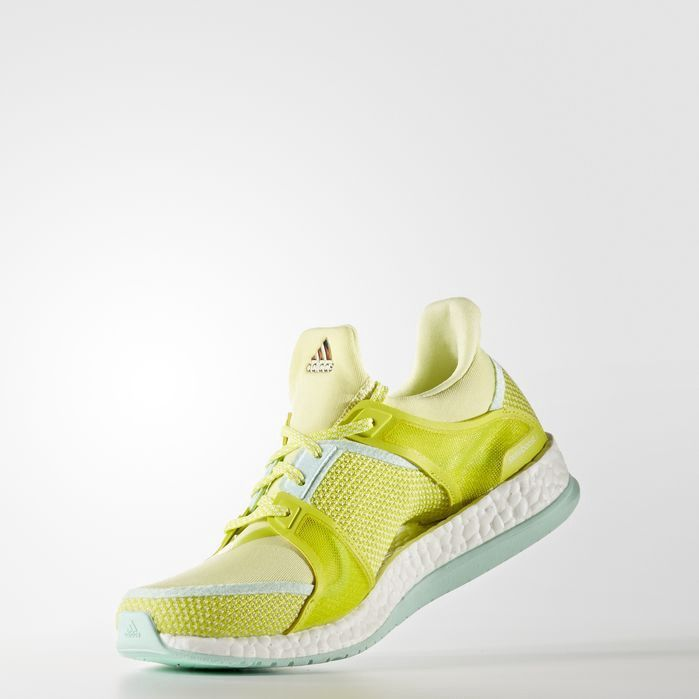 Pure Boost X Training Shoes In Ice Yellow Running Shoes Design Training Shoes Adidas Originals Fashion