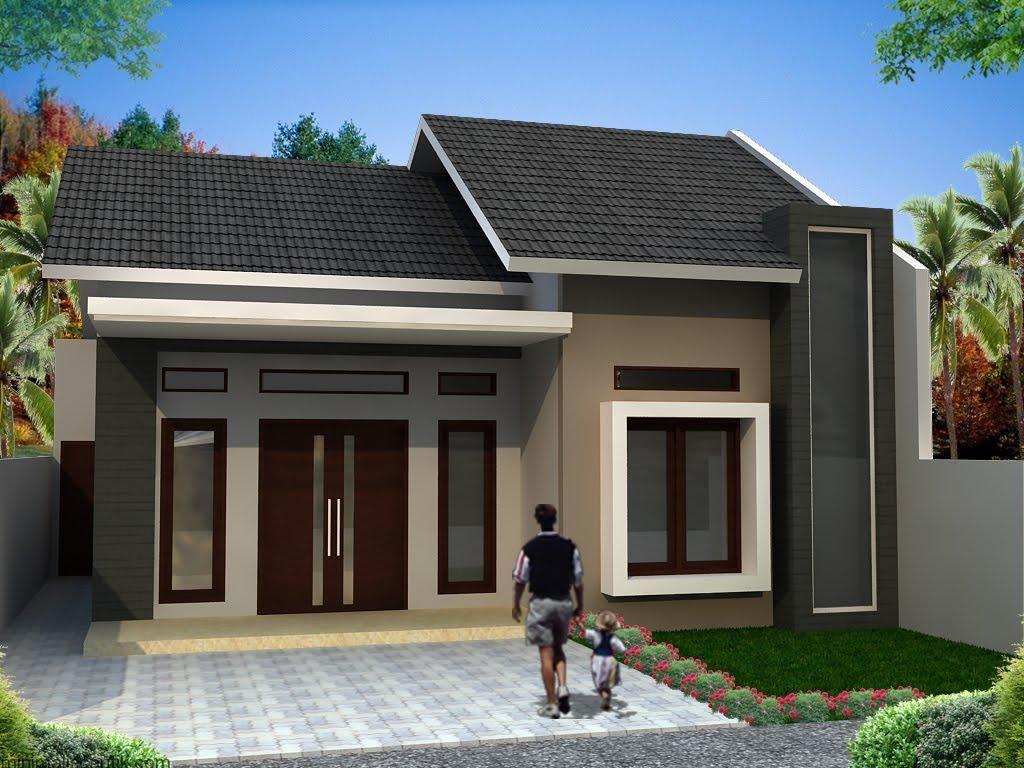 Rumah Minimalis Kaca Sudut Huniankini
