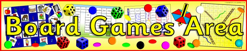 Board Games Area banner (SB9590) - SparkleBox   Things to