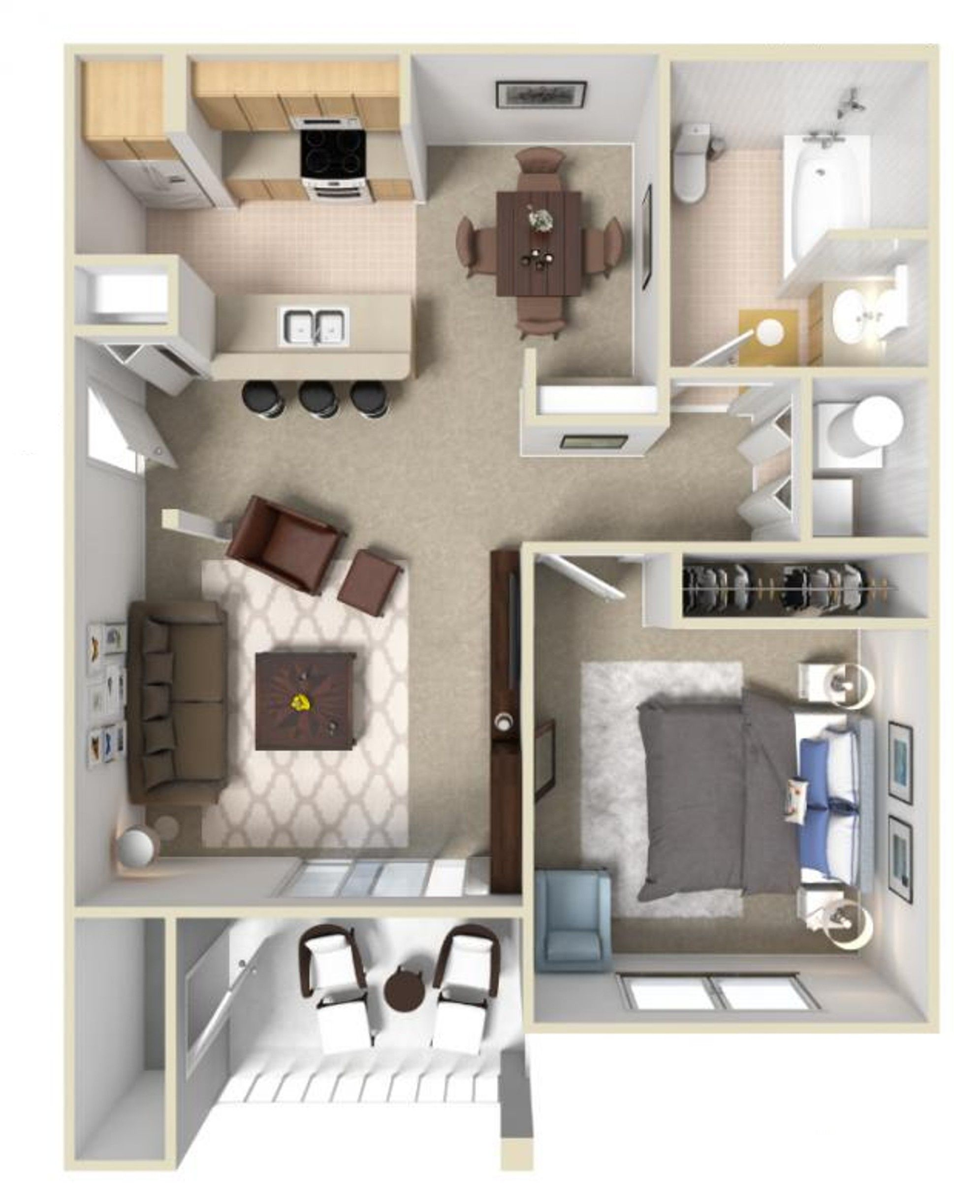 1 bedroom loft apartment  Floorplan  new apartment  Pinterest  Apartments