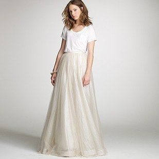 This J Crew Tulle Skirt Tee Combo 36 Ultra Glamorous Two Piece Wedding Dresses