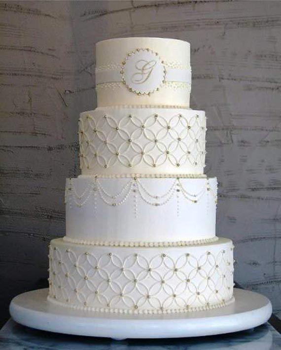 Chic White Wedding Theme: Royal Theme Chic Charming Wedding Cake Ideas In Beautiful