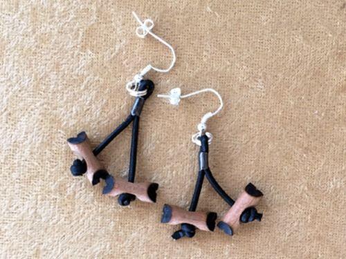 Bsa Mini Wood Badge 2 Bead Earring Woodbadge Pinterest Bead