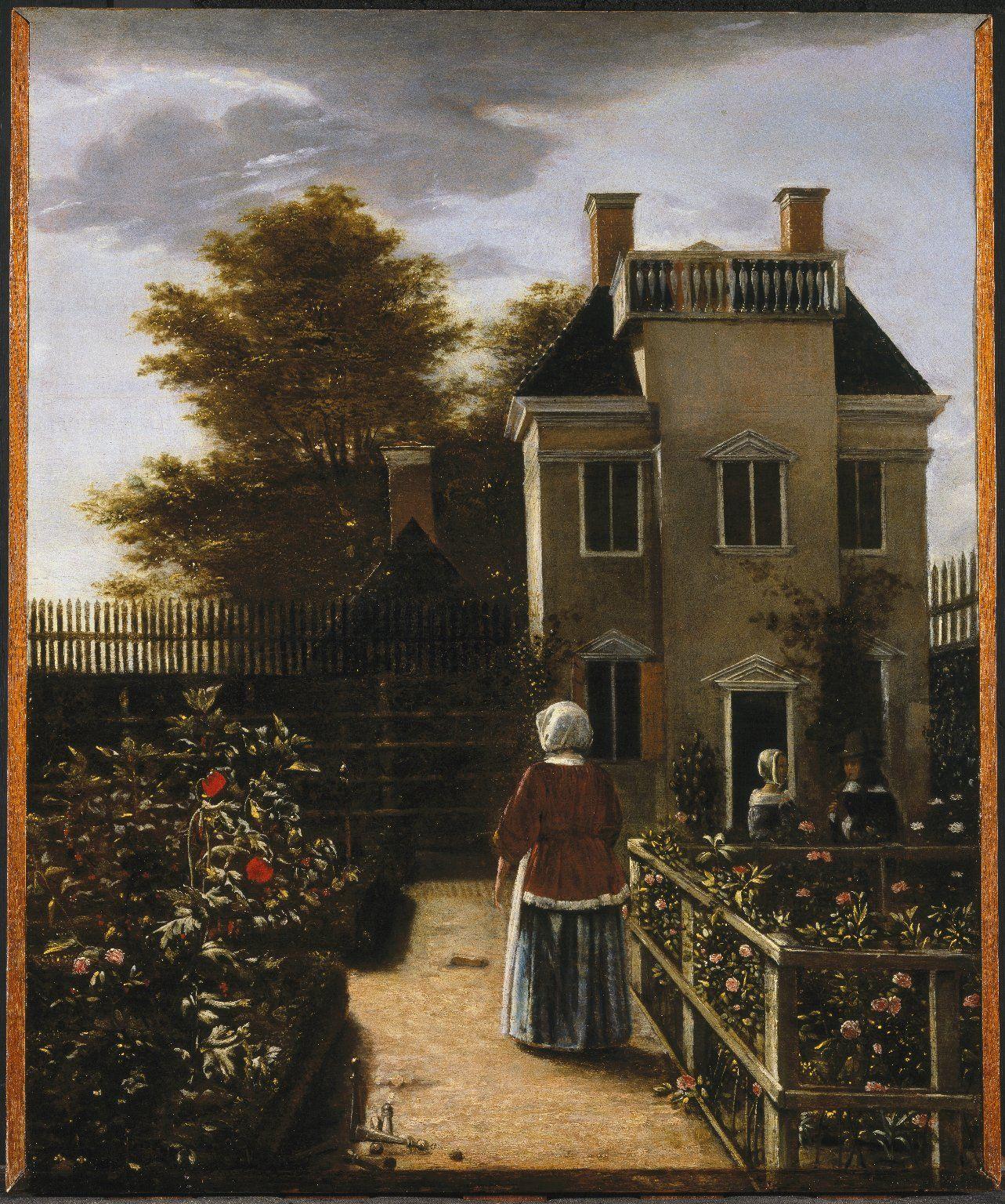 Pieter de Hooch (Dutch, 1629-1684) - Flower Garden, ca. 1660 ...