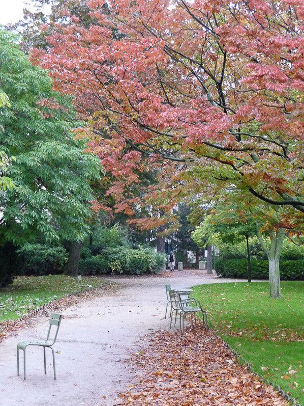 L automne au jardin du luxembourg paris 6e http www for Au jardin paris