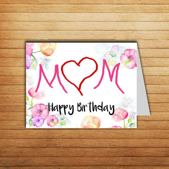 Mother Birthday Card Printable Mom Gift Mum Happybirthday Iloveyou Funny Momcard Mothergift Her Instant