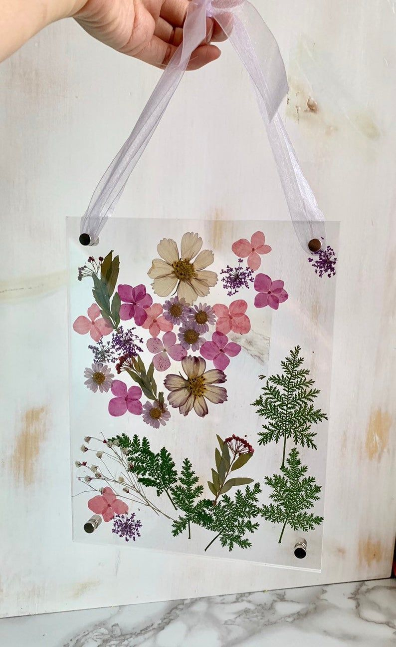 Dried Natural Pressed greenery flower picture fame