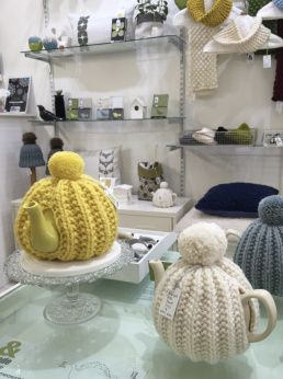 Pom Pom Knitted Tea Cosies, &made, Manchester