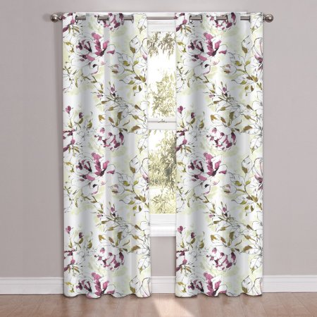 Dolce Printed Window Curtain Panel Pair 84 Inchx38 Inch