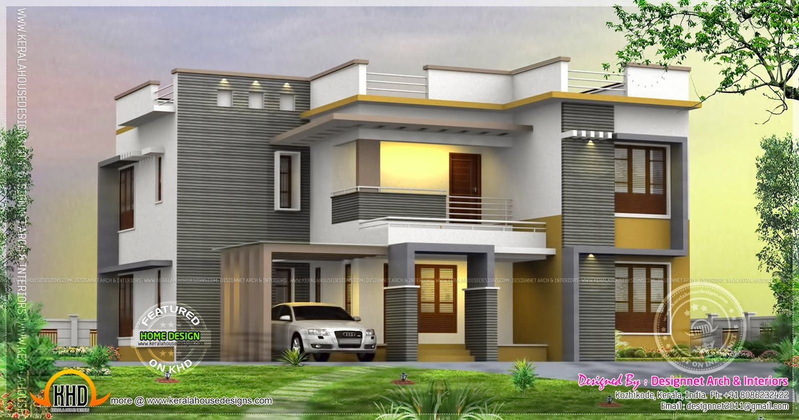 Single storey home flat roof future vertical expansion 6 social side - Flat Roof House Modelos Casas Pinterest Flat Roof House Flat Roof And House